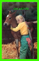 CHEVAUX - HORSES - LITTLE GIRL WITH HER FRIEND -A PAIR OF CUTIES - - Chevaux