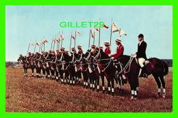 CHEVAUX - HORSES - BEMGAL LANCERS OF HALIFAX, NOVA SCOTIA -  MIRRO-KROME CARD - - Chevaux