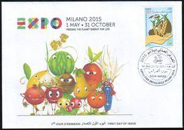 ARGELIA 2014 FDC  FDC Expo Milan 2015 Milano Universal Expo - Italie Italia Italy Alimentation Food Feeding Agriculture - 2015 – Milan (Italy)
