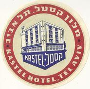 TEL AVIV ISRAEL ETIQUETTE PUBLICITE HOTEL KASTEL CHROMOGRAPHIE ILLUSTRATEUR - Pubblicitari