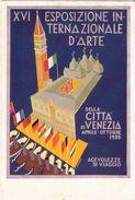 Cartolina Ufficiale XVI ESPOSIZIONE INTERNAZIONALE D'ARTE Venezia Gustavo Rosso - Esposizioni