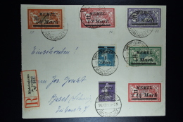 Memel Einschreiben Umschlag Michelsakuten / Heydekrug Nach Basel Mi 84+86+89+91+92+94+97   26-10-1922 - Klaipeda