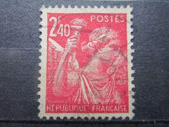 VEND BEAU TIMBRE DE FRANCE N° 654 , STRIE !!! - Variétés: 1941-44 Oblitérés