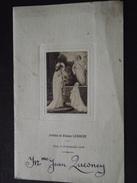 MENU De PREMIERE COMMUNION De Arlette Et Eliane Lesouef - 24 Septembre 1944 - Dîner - Imp à Cany (Seine-Maritime) - Menus
