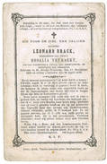 Sint-Denijs-Westrem: 1878, Leonard Brack; Secretaris Der Gemeente ( 2 Scans) - Devotieprenten