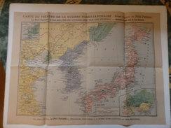 Carte Du Théâtre De La Guerre Russo-Japonaise Par Le Petit Parisien. - Guerres - Autres