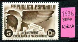 SPAGNA - Year 1936 - Nuovo - New - Fraiche - Frisch - MNH **. - 1931-Oggi: 2. Rep. - ... Juan Carlos I