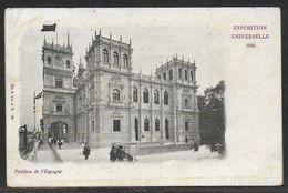 Carte Postale Ancienne Vierge, Pavillon De L'Espagne, MINT, VINTAGE POSTCARD, EXPOSITION UNIVERSELLE 1900 - Barcelona