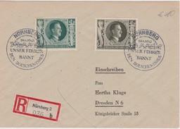 ALLEMAGNE 1943 LETTRE RECOMMANDEE DE NÜRNBERG AVEC CACHET PROPAGANDE ANTI BOLCHEVIQUE - Germany