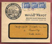 Enveloppe Avec RS - Le Mont St-Bernard - Antoine PAYOT à Bourg-Saint-Maurice - 1921-1960: Periodo Moderno