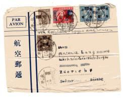 CHINE - LETTRE - Pour La Suisse - - China