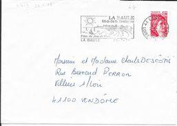 LOIRE ATLANTIQUE 44  -   LA BAULE- FLAMME N° 4412  -  VOIR DESCRIPTION -  1978 - - Postmark Collection (Covers)