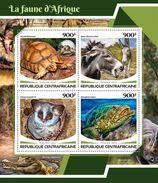 CENTRAL AFRICA 2017 - African Fauna, Rhinoceros. Official Issue - Rhinozerosse