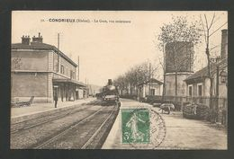 51. CONDRIEUX (Rhône) - La Gare, Vue Intérieure - Voyagée 1911 -- GARE - TRAIN - Condrieu