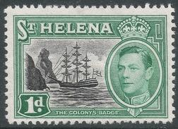 St Helena. 1938-44 KGVI. 1d MH. SG 132 - Saint Helena Island