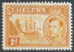 St Helena. 1938-44 KGVI. 1d MH. SG 132a - Saint Helena Island