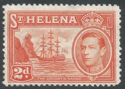 St Helena. 1938-44 KGVI. 2d MH. SG 134 - Saint Helena Island