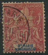 Sainte Marie De Madagascar (1894) N 11 (o) (coin Inferieur Droit Abimé) - Used Stamps