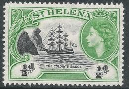St Helena. 1953-59 QEII. ½d MH. SG 153 - Saint Helena Island