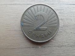 Macedoine  2  Denari  1993  Km 3 - Macédoine