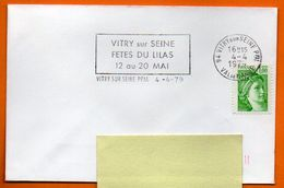 94 VITRY SUR SEINE   FETES DU LILAS 1979 Lettre Entière N° J 963 - Annullamenti Meccanici (pubblicitari)