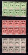 Canton Maury N° 20/22 En Bloc De Six Timbres Neufs ** MNH. TB. A Saisir! - Canton (1901-1922)