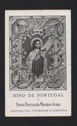 1950 Years HOLY CARD SANTA TERESA DO MENINO JESUS PORTUGAL Rare SAINT THERESA - Unclassified