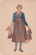 Bk - Cpa Lettonie - Tämnieki (région De Talsi) - Costume Dessiné Par Ansis Cirulis - Latvia