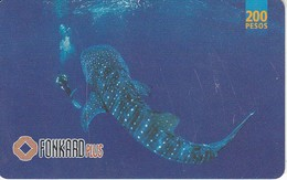TARJETA DE FILIPINAS DE UN TIBURON BALLENA  (FISH-PEZ-POISSON) SHARK - Unclassified