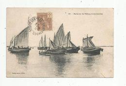 Cp, Bateaux De Pêche, Barques De Pêcheurs Annamites , VIETNAM , Dos Simple - Pêche