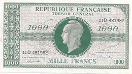 FRANCE 1945 Marianne Dulac 1000 Francs - Trésor