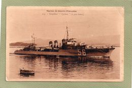 TORPILLEUR  CYCLONE  MARINE DE GUERRE FRANCAISE - Krieg