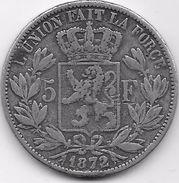 Belgique - 5 Francs 1872 - Fausse Pour Servir - 1865-1909: Leopold II