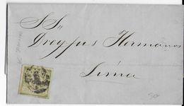 PEROU - 1869 - YT N°13 Avec RACCORD Sur LETTRE De PIURA => LIMA - Pérou
