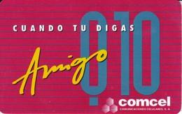 TARJETA DE GUATEMALA DE 10 QUETZALES DE AMIGO DE COMCEL - Guatemala