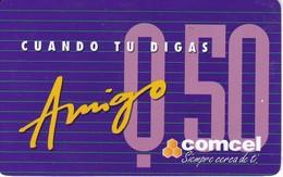 TARJETA DE GUATEMALA DE 50 QUETZALES DE AMIGO DE COMCEL - Guatemala
