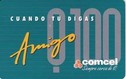 TARJETA DE GUATEMALA DE 100 QUETZALES DE AMIGO DE COMCEL - Guatemala