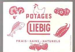 Buvard LIEBIG Potages LIEBIG Frais - Sains- Naturels - Potages & Sauces