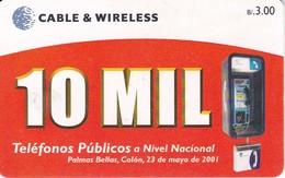 TARJETA DE PANAMA DE CABLE & WIRELESS DE B/3.00  10 MIL TELEFONOS PUBLICOS - Panama
