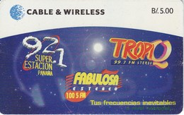 TARJETA DE PANAMA DE CABLE & WIRELESS DE B/5.00  EMISORA RADIO - Panamá