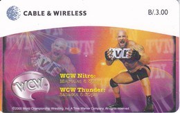 TARJETA DE PANAMA DE CABLE & WIRELESS DE B/3.00  WCW NITRO - Panama