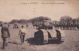 Camp De SATORY (Versailles) - Chars De Combat En Marche - CPA - 1926 - Matériel