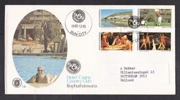 Bophuthatswana: Cover To Netherlands, 1980, 4 Stamps, Hotel Casino Golf Club Sun City, Dance, Swimming (traces Of Use) - Bophuthatswana