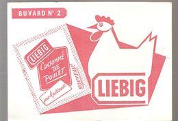 Buvard LIEBIG Buvard N°3 POIS AU LARD - Sopas & Salsas