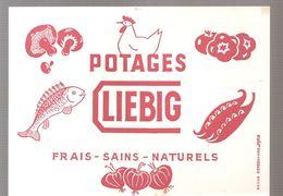 Buvard LIEBIG Potages LIEBIG FRAIS SAINS NATURELS - Sopas & Salsas