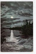 BALA FALLS, Ontario, Canada, Moonlight View Of Falls, 1908 Postcard, Muskoka County - Muskoka