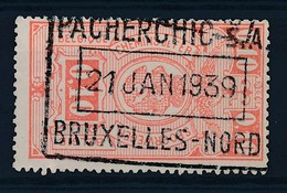 "BELGIE - TR 136 - Cachet  ""PACHERCHIC S.A. - BRUXELLES-NORD"" - (ref. 16.975) - Railway"