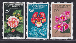 CAMEROUN AERIENS N°   81 à 83 ** MNH Neufs Sans Charnière, Fleurs, TB (D0930) - Kamerun (1960-...)