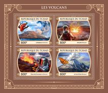 CHAD 2017 - Volcanoes, Butterfly. Official Issue. - Butterflies