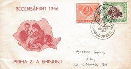 Romania 1956 Circulated FDC Census - 1948-.... Republiken